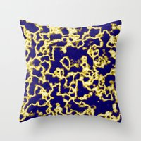 lightning Throw Pillows featuring Lightning by Maxvision