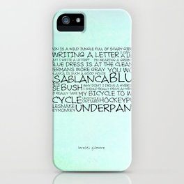 My brain is a wild jungle full of scary gibberish iPhone Case