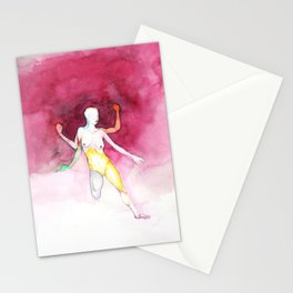 Explode, nude female figure, NYC artist Stationery Cards