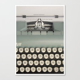 American Typewriter Canvas Print
