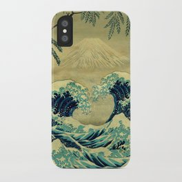 The Great Blue Embrace at Yama iPhone Case