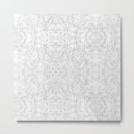 White Lace Metal Print