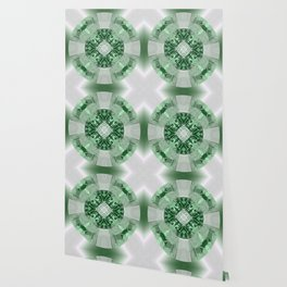 Microchip Mandala in Green Wallpaper