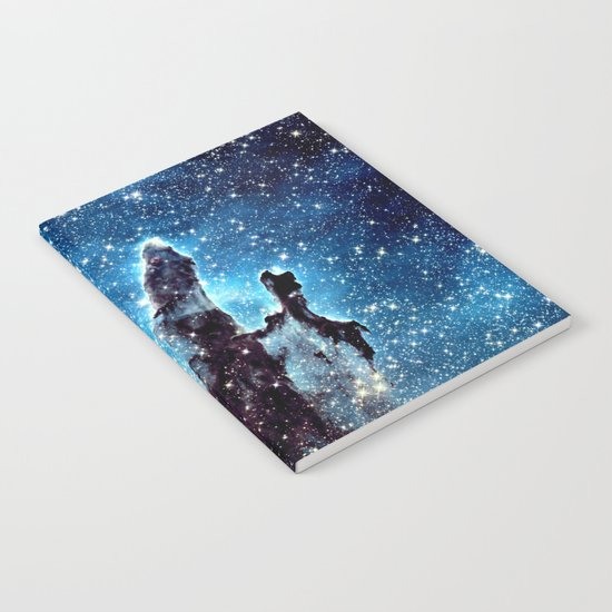 Pillars of Creation Nebula: Ocean Blue Galaxy Notebook