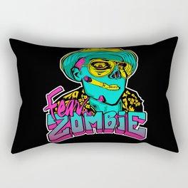 Fear the Zombie Rectangular Pillow