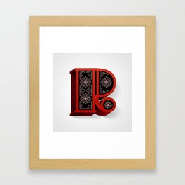 The Letter R Framed Art Print