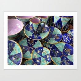 Wedgwood majolica Fan pattern Art Print