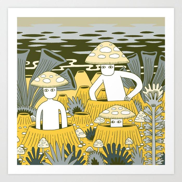 Mushroom Men Kunstdrucke