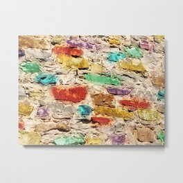 Rainbow Pebbles Metal Print