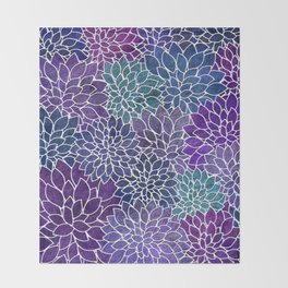Floral Abstract 22 Throw Blanket