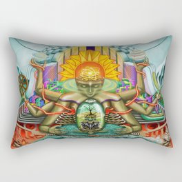 Genesis1, the theory of creation Rectangular Pillow