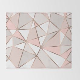 Rose Gold Perseverance Throw Blanket