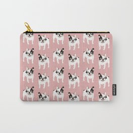 Happy and Fun Single Hooded Pied French Bulldog Carry-All Pouch