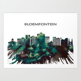 Bloemfontein Skyline Art Print