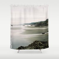 west coast Shower Curtains featuring West Coast by Arielle Walker