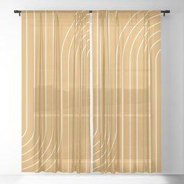 Minimal Line Curvature VIII Sheer Curtain