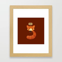Little Furry Friends - Red Panda Framed Art Print