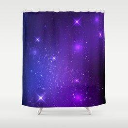 The Heavens Weep Purple Stars Shower Curtain