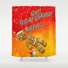 Gingerbread Man's Buttons Shower Curtain
