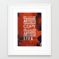 pablo picasso Framed Art Prints featuring Pablo Picasso by Pierre Chavez