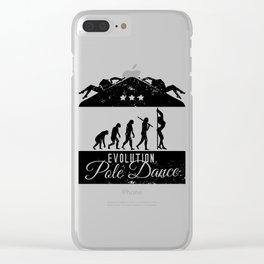 Evolution Pole Dance Clear iPhone Case