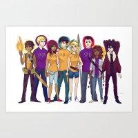 heroes Art Prints featuring Heroes by cookiekhaleesi