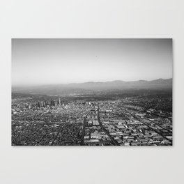 Flying Into Los Angeles Canvas Print