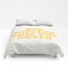 BAD BITCHES RULE THE WORLD Comforters