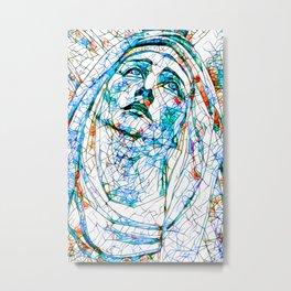 Glass stain mosaic 8 - Madonna, by Brian Vegas Metal Print