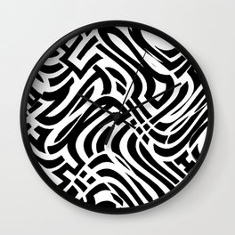 Trippy Urban Surprise, Deception And The Banana Fish Wall Clock