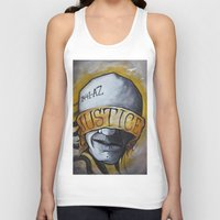 justice Tank Tops featuring Justice by Tatstom48