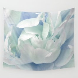 Peony in Blue White Wall Tapestry