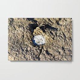 Natural Sea Salt On Coastal Rock Seaside 2 Metal Print