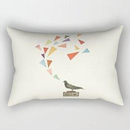 Pigeon Radio Rectangular Pillow