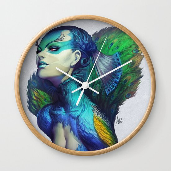 Peacock Queen Wall Clock