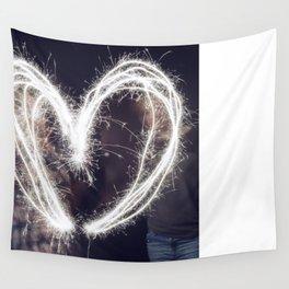 Sparkler Love Wall Tapestry