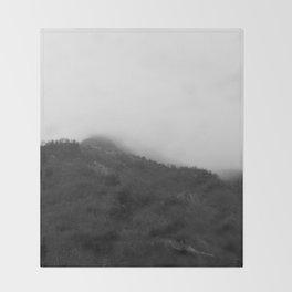 Foggy Mountains Throw Blanket