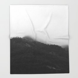 Foggy Mountains Throw Blanket