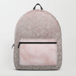 Beige glitter gradient on cotton candy clouds Backpack