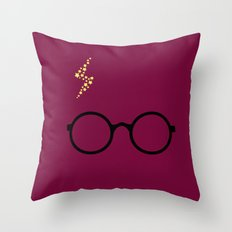 Harry - Purple Throw Pillow