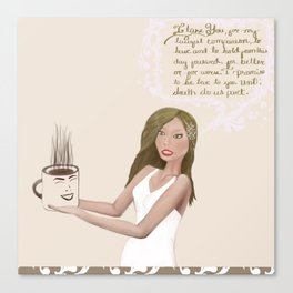 Coffee Lovers #3 Canvas Print