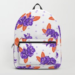 Floral clemson sports college football university varsity team alumni fan gifts Backpack