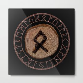 Othala Rune ancestral property, one's homeland or a sense of physical, mental, emotional, spiritual Metal Print