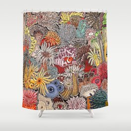 Clown fish and Sea anemones Shower Curtain