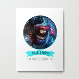 League Of Legends - Blitzcrank Metal Print