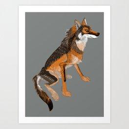Totem Iberian wolf Art Print