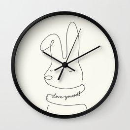 Love Yourself - Bunny Wall Clock