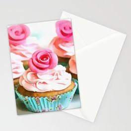 Romantic Cupcakes Stationery Cards