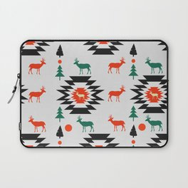 Deer in red and green Laptop Sleeve