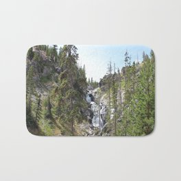 Yellowstone Waterfall Bath Mat